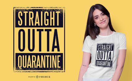 Design de camiseta de quarentena direto