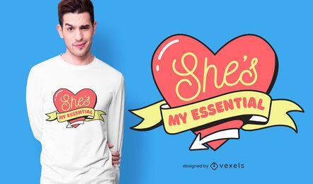 Ella es mi diseño de camiseta esencial
