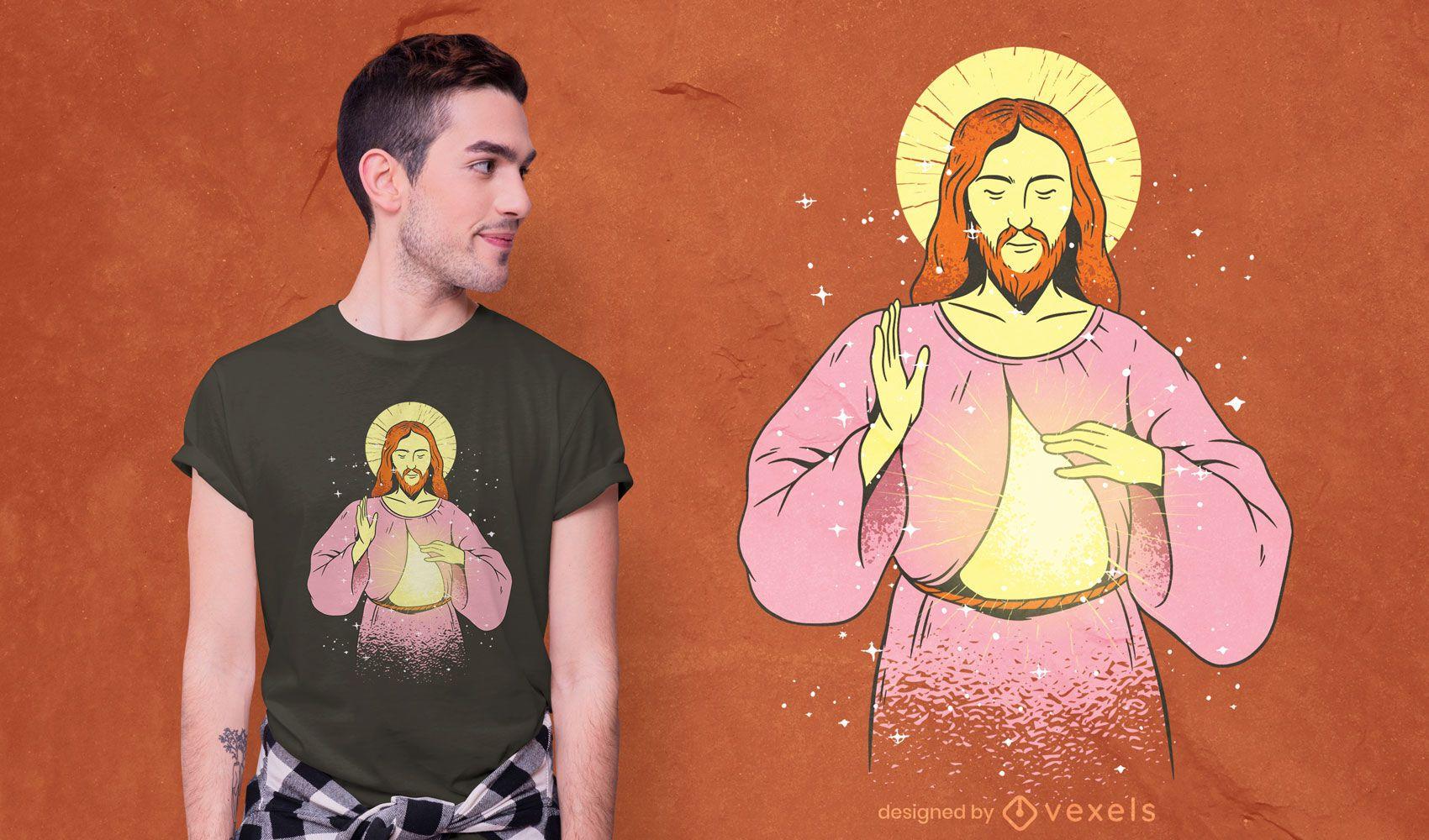 Diseño de camiseta de jesucristo
