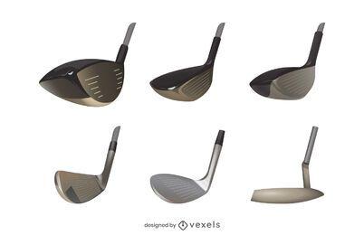 Juego de cabeza de palo de golf realista
