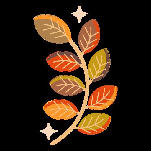 Autumn leaf branch flat Transparent PNG