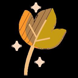 Autumn leaf flat leaf