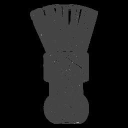 Escova de barbeiro desenhada à mão