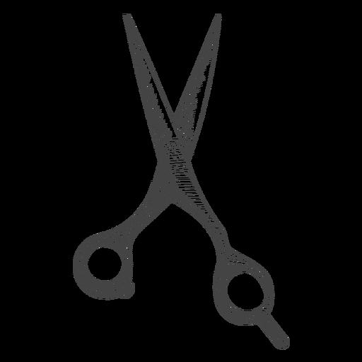 Peluquería tijera dibujada a mano