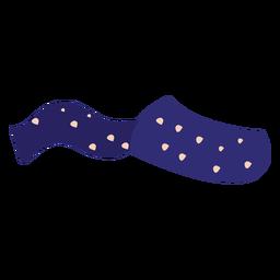 Bufanda de lunares azul plana