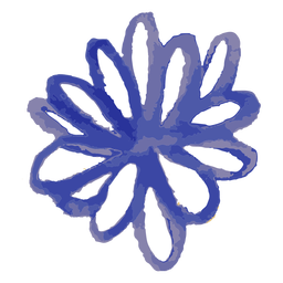 Blue flower watercolor