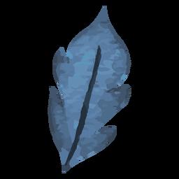 Blue leaf watercolor