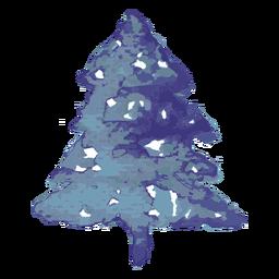 Aquarela de pinheiro azul