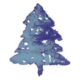 Blue pine tree watercolor