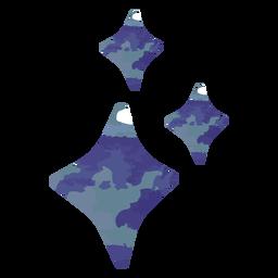 Blue sparkles watercolor
