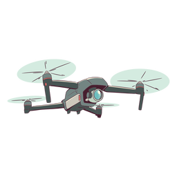Camera drone illustration