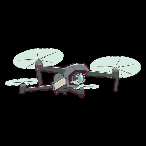 Camera drone illustration