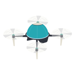 Circular flying drone illustration
