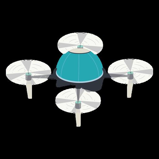 Ilustraci?n de drone volador circular
