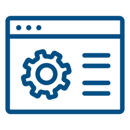 Ícone de traço das configurações da janela do computador
