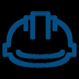Icono de trazo de casco de construcción