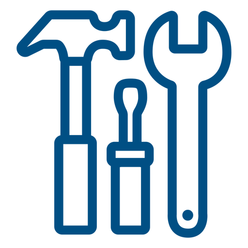 Construction tools stroke icon