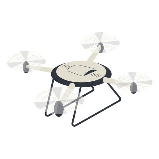 Drone with landing gear illustration
