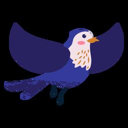 Ilustración de pájaro azul volando