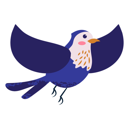 Flying blue bird illustration Transparent PNG