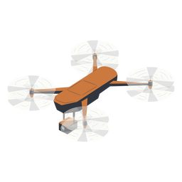 Flying camera drone illustration