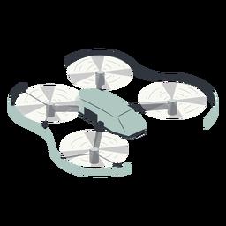 Fliegende Drohne mit Schutzillustration