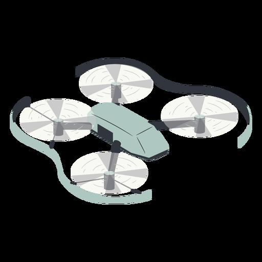 Drone volador con ilustraci?n de protecci?n