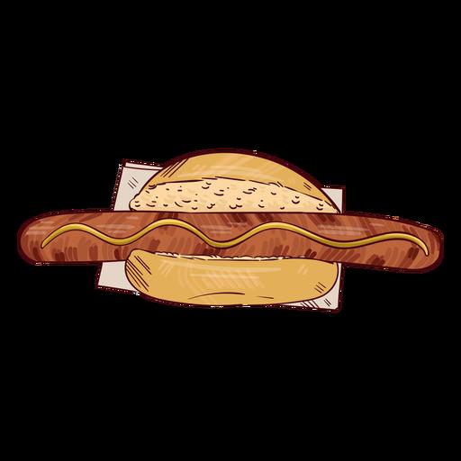 Ilustración de hot dog salchicha