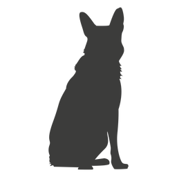 German shepherd sitting down silhouette
