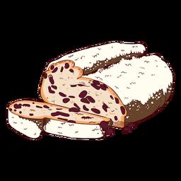Ilustración de pan tradicional alemán