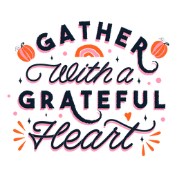 Grateful thanksgiving lettering