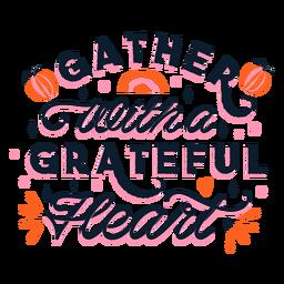 Letras de agradecimento