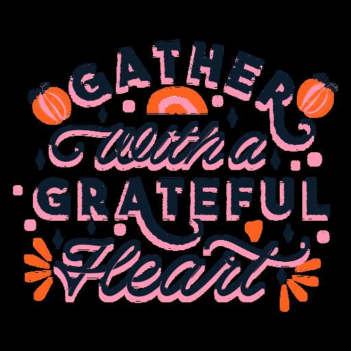 Grateful thanksgiving lettering Transparent PNG