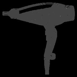 Hair dryer hand drawn hair