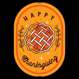 Feliz Dia de Ação de Graças com emblema de Ação de Graças