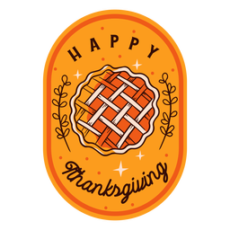 Happy thanksgiving badge thanksgiving