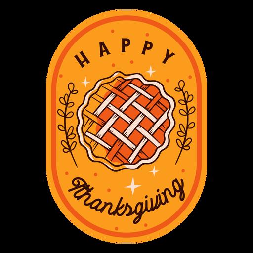 Feliz día de acción de gracias insignia de acción de gracias