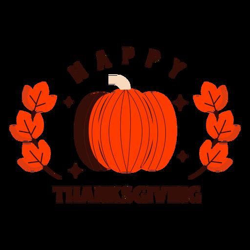 Happy thanksgiving pumpkin badge