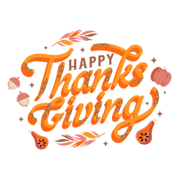Happy thanksgiving pumpkin lettering