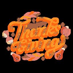 Letras de abóbora feliz dia de graças