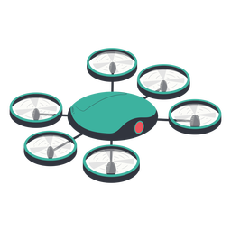 Hexacopter drone illustration