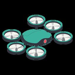 Ilustración de drone hexacopter