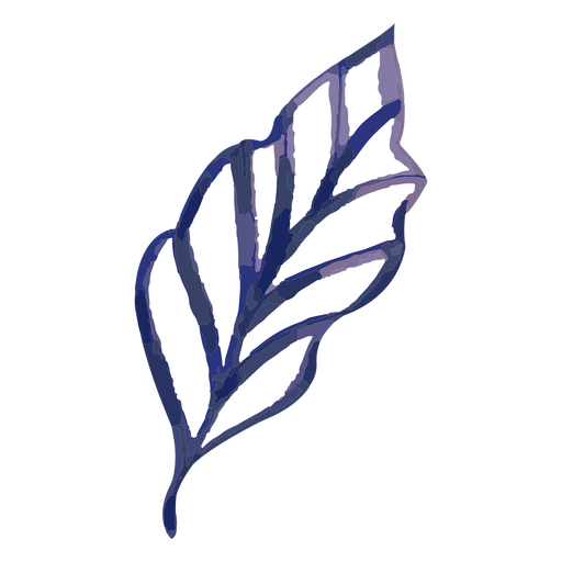 Leaf watercolor stroke Transparent PNG