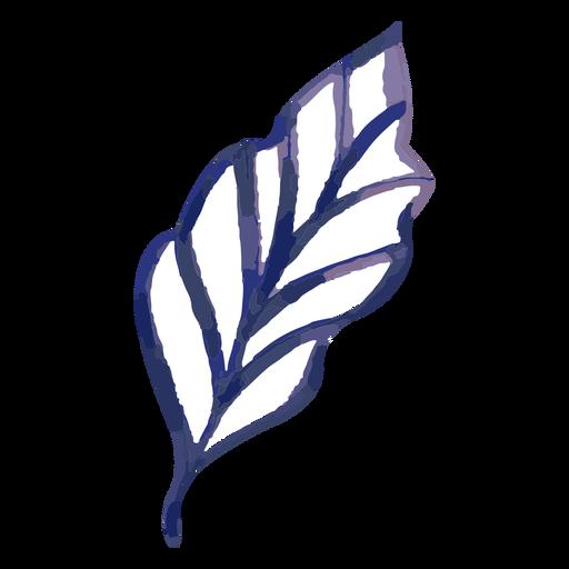 Leaf watercolor stroke