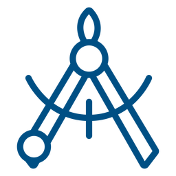 Measuring compass stroke icon