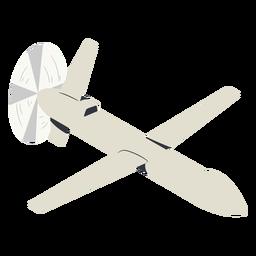 Ilustración de drone militar