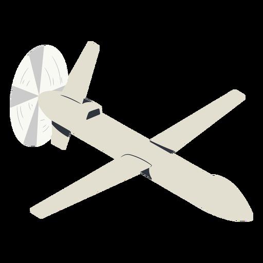 Military drone illustration