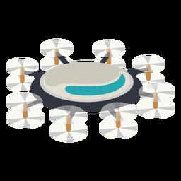 Ilustración de drone octacoper