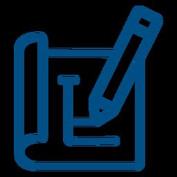Ícone de traço de planejamento de lápis