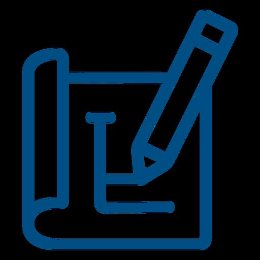 Pencil planning stroke icon